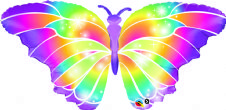 Luminous Butterfly Super Shape Foil Balloon